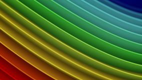Rainbow gradient wavy curves abstract 3D rendering. Rainbow gradient wavy curves. Abstract 3D rendering Stock Illustration