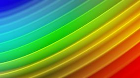 Rainbow gradient wavy curves abstract 3D rendering. Rainbow gradient wavy curves. Abstract 3D rendering with DOF Stock Illustration