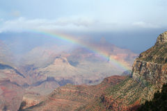 Rainbow at Grand Canyon. After rain Royalty Free Stock Photos