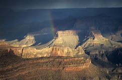 Rainbow in Grand Canyon Stock Photography