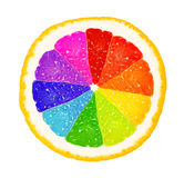 Rainbow of grapefruit Royalty Free Stock Photos