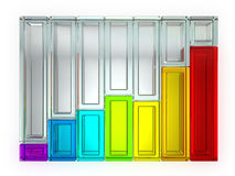 Rainbow Graph Isolated royalty free stock photo