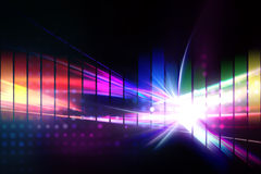 Rainbow Graphic Equalizer Stock Images