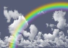 Rainbow in the gray sky Royalty Free Stock Images