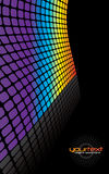 Rainbow Grid Background Stock Image