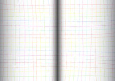 Rainbow Grid White Background open book Royalty Free Stock Photography