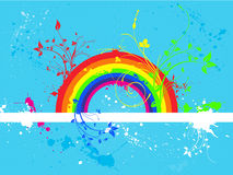 Rainbow grunge Royalty Free Stock Images