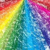 Rainbow grunge background. A radiating rainbow grunge background Stock Illustration
