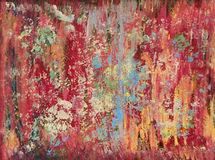 Rainbow Grunge Oil Painting Stock Photography