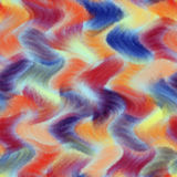 Rainbow grunge striped and wavy zigzag light seamless pattern in pastel colors Royalty Free Stock Images