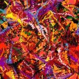 Rainbow grunge striped zigzag chaotic seamless pattern Stock Image