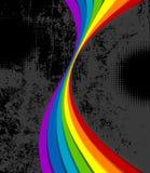 Rainbow grungy di Swirly illustrazione di stock