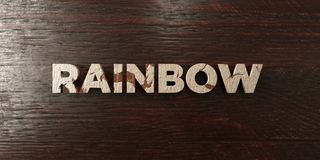 Rainbow - grungy wooden headline on Maple - 3D rendered royalty free stock image. This image can be used for an online website banner ad or a print postcard vector illustration