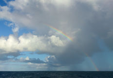 Rainbow, Guadeloupe. Royalty Free Stock Images