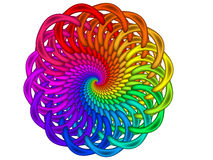 Rainbow Guilloché Spirograph Motif Medallion Royalty Free Stock Images