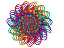 Rainbow Guilloché Spirograph Motif Medallion Royalty Free Stock Photography