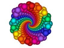 Rainbow Guilloché Spirograph Motif Medallion Stock Image
