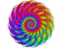 Rainbow Guilloché Spirograph Motif Medallion Stock Photography