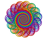 Rainbow Guilloché Spirograph Motif Medallion Royalty Free Stock Image
