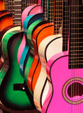 Rainbow guitars 2 Royalty Free Stock Photos