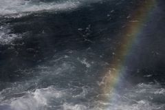 Rainbow in the Gullfoss waterfall Royalty Free Stock Photography