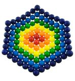 Rainbow Gumballs. Gumball design with multiple colors on white Royalty Free Stock Photo