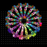 Rainbow Gypsy Wheel. Of Freedom Pagan Symbol Royalty Free Stock Image