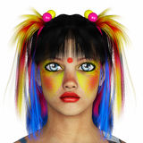 Rainbow hair girl portrait Royalty Free Stock Photography