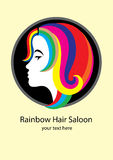 Rainbow Hair Saloon Royalty Free Stock Image