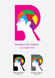 Rainbow Hair Saloon Royalty Free Stock Image