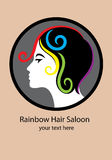Rainbow Hair Saloon Stock Image