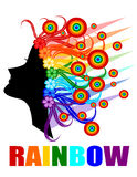 Rainbow hair Stock Photos