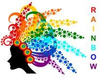 Rainbow hair Royalty Free Stock Photo