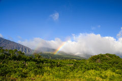 Rainbow at Haleakala Crater - East Maui, Hawaii Royalty Free Stock Images