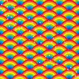 Rainbow half circle star seamless pattern Stock Images