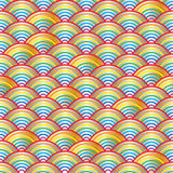 Rainbow half line bright seamless pattern Royalty Free Stock Image