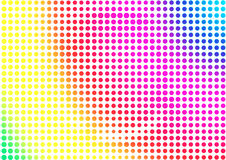 Rainbow halftone abstract background. Colorful textured dotted backdrop Stock Images
