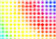 Rainbow halftone abstract background. Colorful textured dotted backdrop Royalty Free Stock Photo