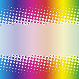 Rainbow halftone banner design Royalty Free Stock Photo