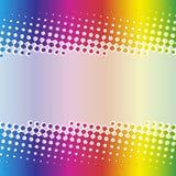 Rainbow halftone banner design Royalty Free Stock Photo