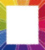 Rainbow haltfone background Stock Photography