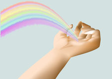 Rainbow in the hand Royalty Free Stock Photos
