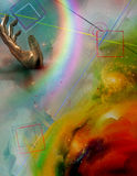Rainbow in hand Royalty Free Stock Photos