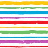 Rainbow hand painted vector abstract brush strokes collection Stock Photo