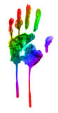 Rainbow handprint Stock Photos