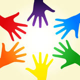 Rainbow hands Royalty Free Stock Photos