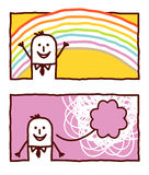 Rainbow & happiness Royalty Free Stock Photos