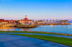Rainbow Harbor with Shoreline  Village at Long Beach , CA  at du Stock Images