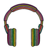 Rainbow headphones Royalty Free Stock Images