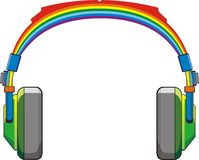Rainbow headphones Royalty Free Stock Photo
